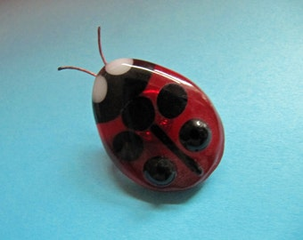 "Glass brooch ""Ladybug"""