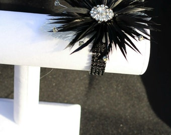 Feather wrist corsage and lapel pin special pricing