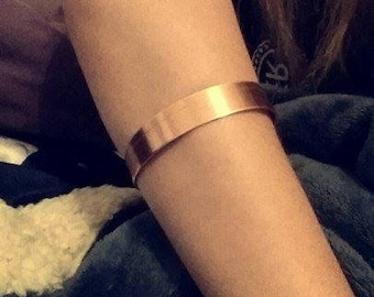 ARM CUFF bracelet copper unique jewelry antique brass