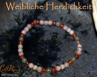 Bracelet female warmth - sunstone, Carnelian, Aventurine, Moonstone