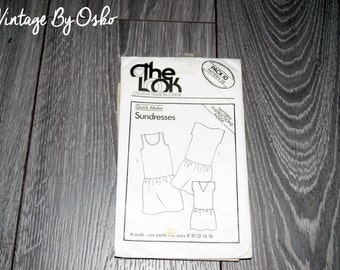 The Look Creative,Fashion Course Pack 10 Pattern 28, SUNDRESSES, Size 8-16