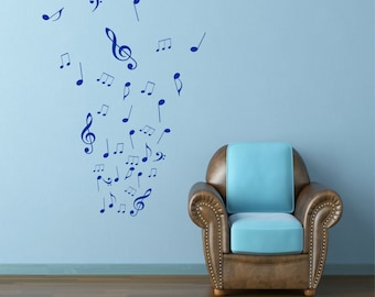 Musical Notes Wall Art Custom Order Steel Earth Tone Patina