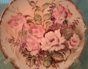 Beautiful Vintage Hand painted and signed plate