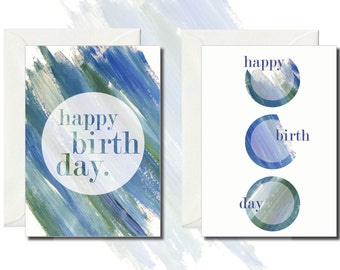 Pack of 2 Birthday Greeting Cards