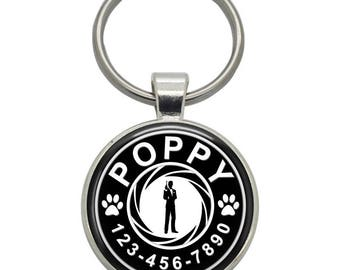 Pet ID Tag - James Bond 007 - Pet Tags,  Dog Tags, Cat Tags, Dog ID Tags, Cat ID Tags