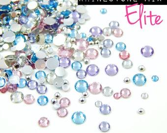 ELITE Rhinestone Mix Flat Back Gems For Nail Art Cosmetics and Craft