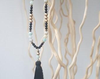Beautiful unique necklace - Amazonite with tassel