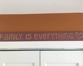 "Custom wall art ""family is everything"""