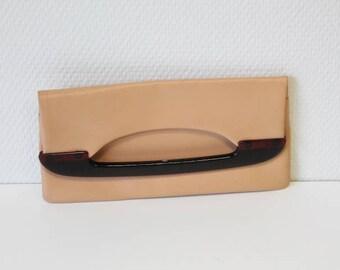 Beige pocket, vintage wallet, vintage purse, evening pochette, vintage fashion, evening accessory,  hand purse, beige clutch