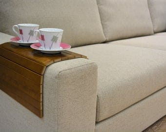 Sofa table, Wood tray, Handmade, walnut couch tray table, sofa arm tray, coffee table, Couch arm table, couch arm tray