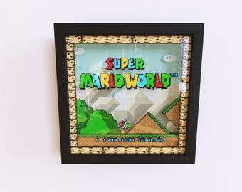 Super Mario World 3D Shadow Frame