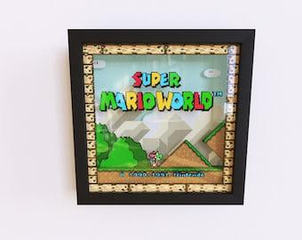 Super Mario World 3D Shadow Frame