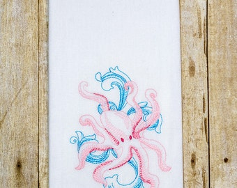 Baroque Octopus Hand Towel, Embroidered