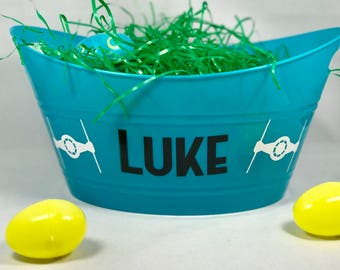 Personalized Easter Basket, Easter Bucket, Name