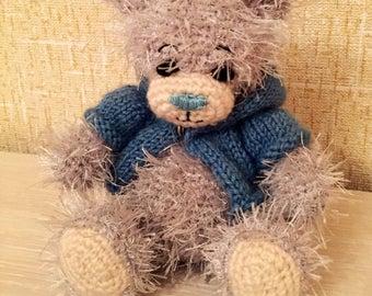 Handmade Teddy bear. Gift and good toy