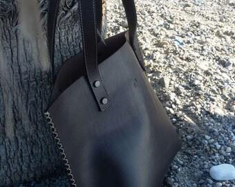 Leather bag, Shoulder Bag, Tote Bag, handmade