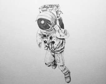 Astronaut Illustration - Digital downloads