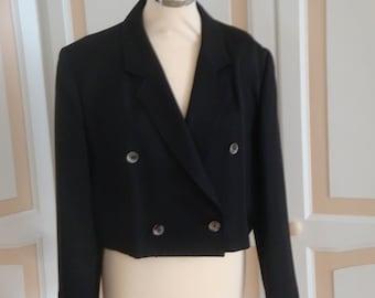 Whimsy Black Stylish Jacket size 16 petite UK