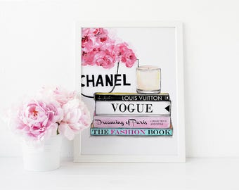 Coco Chanel Handbags, Watercolor Prints, Chanel Handbags, Fashion Books