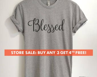 Blessed T-shirt, Ladies Unisex Crewneck T-shirt, Blessed Mom, Gift For Mother