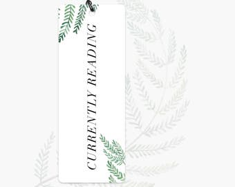 Bookmark | Currently Reading | I read | Quote | Bookmark with quote | Typography | Illustration | Botanic | Quote | Bookmark