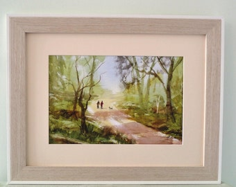 A Walk In the Woods, print from original watercolour