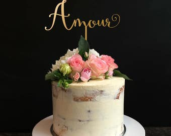 Wedding Cake Topper, Amour Cake Topper for Wedding and Anniversary