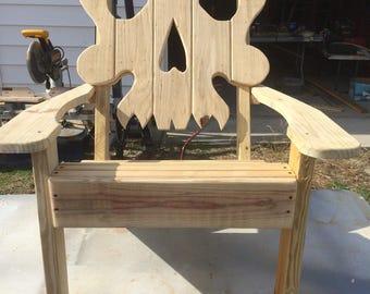 Hers Skull Adirondack Chair