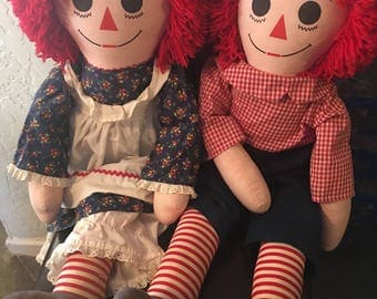 "36"" Raggedy Ann and Andy collectible dolls"