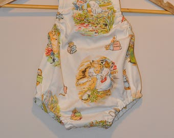 frankie and mo onesie romper - peter rabbit - size 0