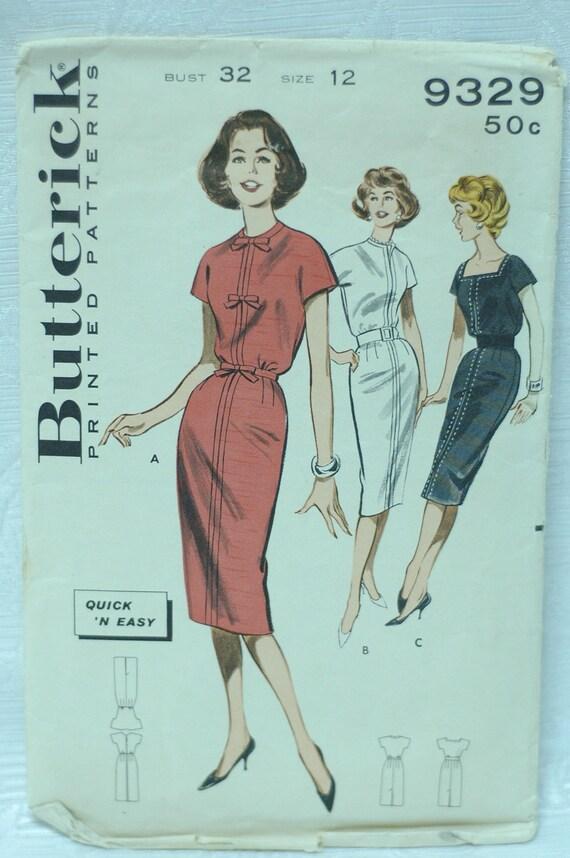 Butterick 9329-Vintage Asian Inspired shealth dress sz 12