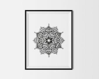 Spotty mandala giclée print