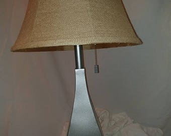 Silver, Metal, Unique, Heavy, table lamp