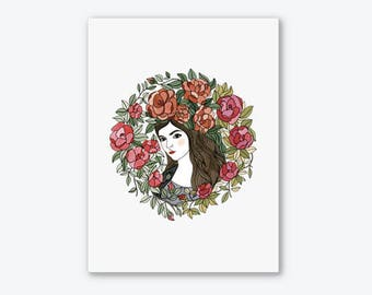 Art Print / illustration / Flora / Wall Art