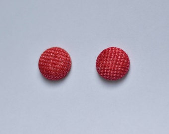 Red with a flash stud earrings