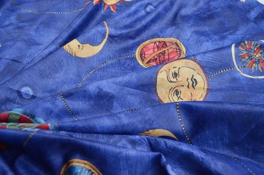 Star fabric celestial printed star print sun moon fabric for Star fabric australia