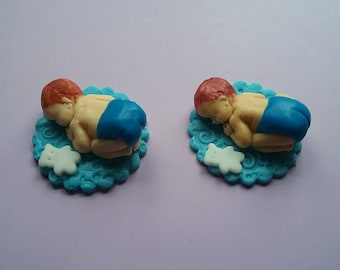12 Baby Fondant Cupcakes Toppers