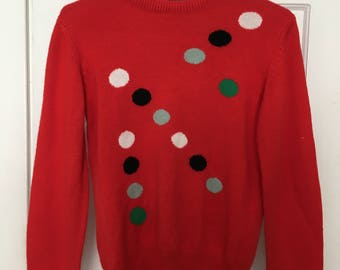 Vintage dot pattern sweater