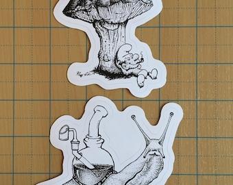Smurf & Slug Sticker Pack