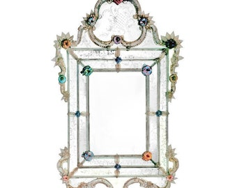 Murano Venetian Glass Wall Mirror 700 century palace reproduction