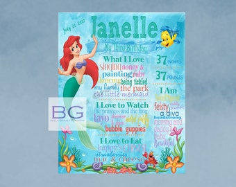 The Little Mermaid Birthday Poster