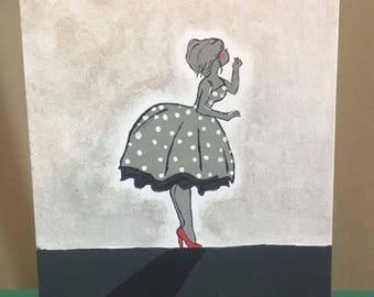 Daisy Mae Acrylic Painting