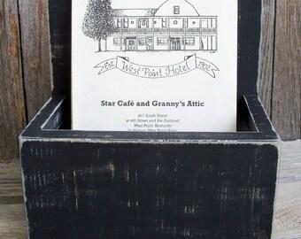 Bi-fold Wood Brochure or Menu Holder,Stand,Rustic, Wood,Large, Information Display, Brochure Display, Literature Holder, Bi-fold Menu Holder
