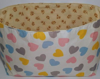 Fabric organizer basket, bin, storage basket, diaper caddy, caddy, basketball, organizer bin toys baby