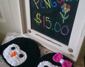 Hand Crochet Penguin Hat