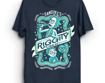 Riggity Real Ale - Rick and Morty T-Shirt | Rick Sanchez Shirt | Morty Tee | Beer Label T-Shirt