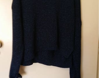 womens electric blue yarn jumper