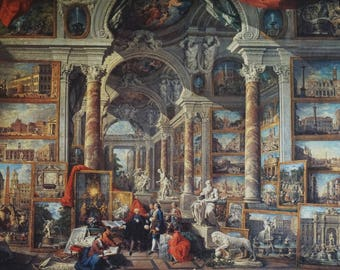 5000 puzzle assembled together: display a picture gallery in ancient Rome (extravagant wall decoration)