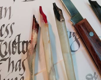 Custom handmade quill and bamboo pens