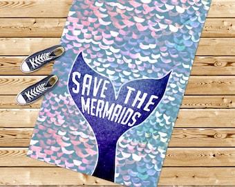 Mermaid Birthday, Beach towel, mermaid tail towel, nautical gift, beach house, mermaid gift, purple towel, girl towel, for her, beach gift